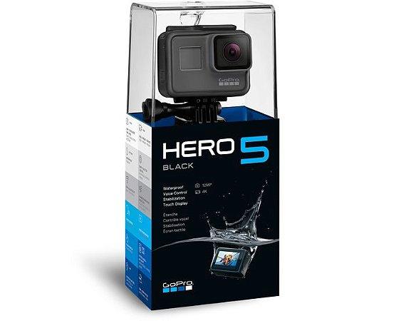 Gopro hero 5 Black 4K Lcd Display 12MP e controle de voz
