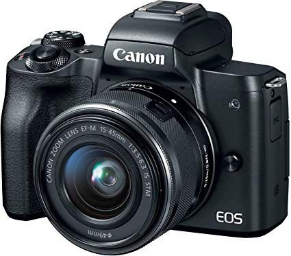 Canon Eos M50 kit 15-45mm f/3.5-6.3 IS STM + Adaptador Original Canon Ef-m