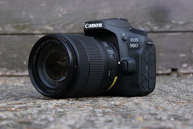 canon 90d lançamento kit 18-135 32Mp vídeo em 4K