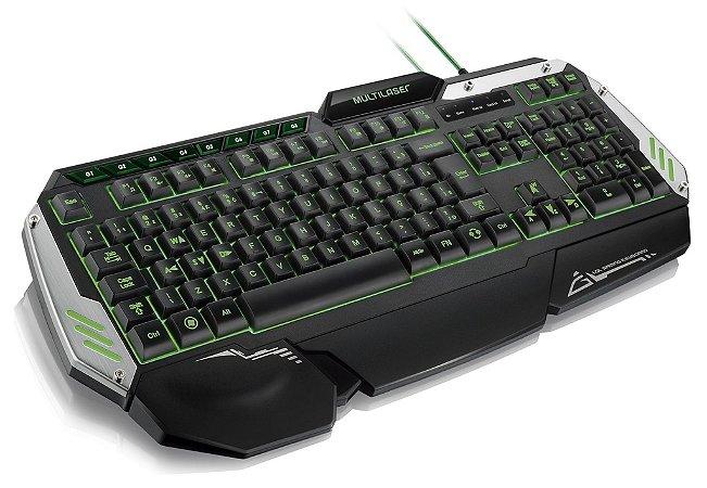 Teclado Gamer Multilaser Metal War TC189