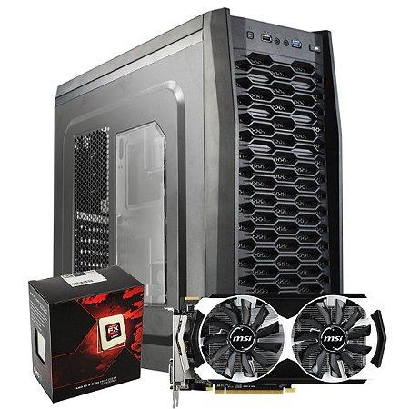 Computador Gamer WARLOCK - AMD FX8320e 3.2 Ghz 8 Núcleos /  R7 370 2GB 256 Bits/ 8 GB / HD 1TB/ SSD 240 GB