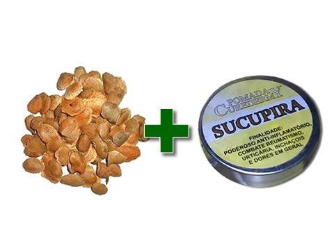 1 Kit 10 - Sementes de Sucupira + 10 Pomadas Sucupira