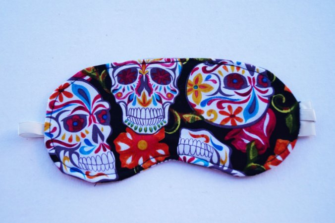 Máscara de dormir aromatizada Candy skull
