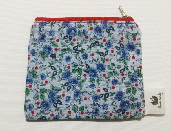 Porta moedas blue floral