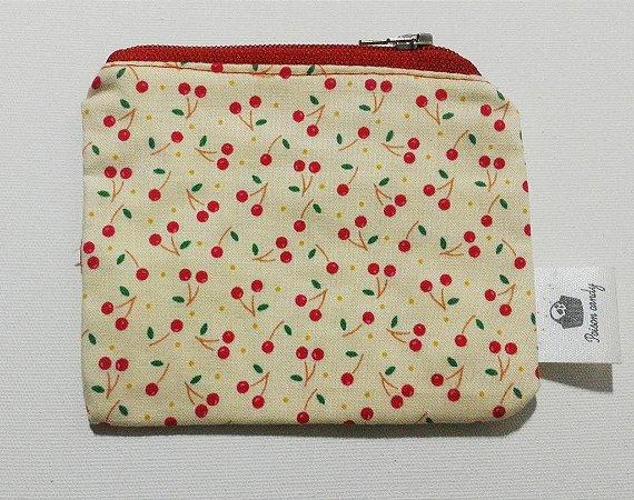 Porta moedas little cherry