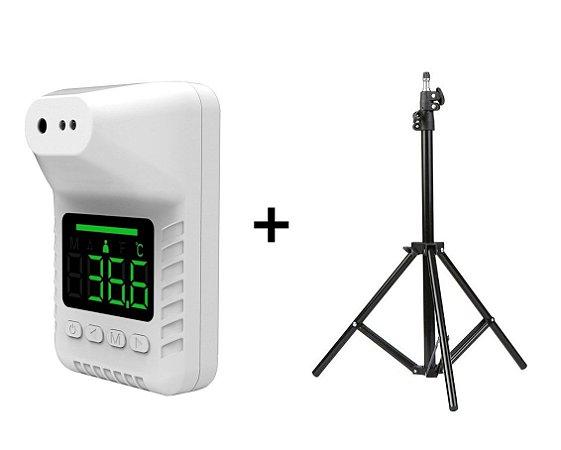 Kit Tripé + Termômetro Infravermelho de parede K3-S
