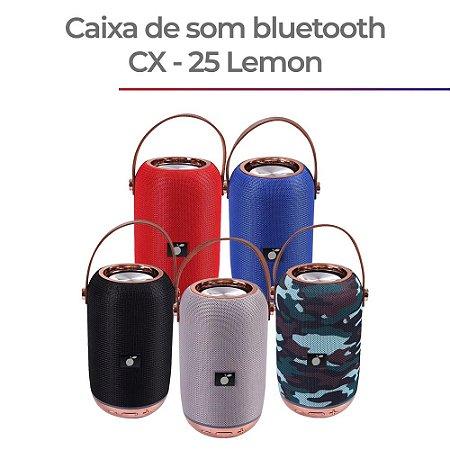 Caixa de Som Portatil Bluetooth CX-25 - PRETO / CINZA