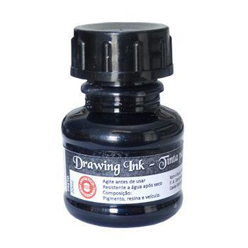 Tinta Nanquim Para Caligrafia e Desenho Drawing Ink Koh-I-Noor Preta - 20ml