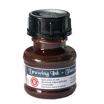 Tinta Nanquim Para Caligrafia e Desenho Drawing Ink - Koh-I-Noor Sépia - 20ml