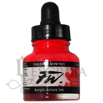 Tinta Para Caligrafia FW - Vermelho Fluorescente 544 - 29,5ml