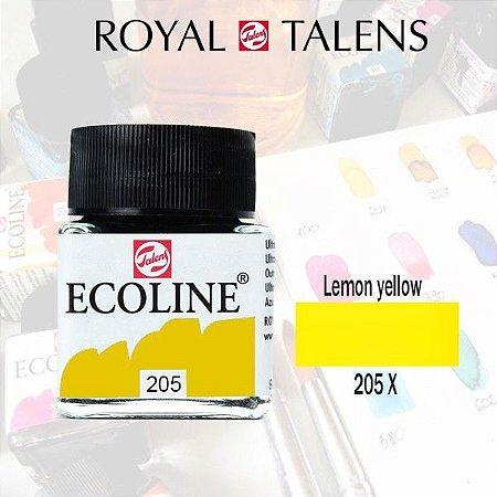 Aquarela Líquida Ecoline Amarelo Limão 205 - 30ml