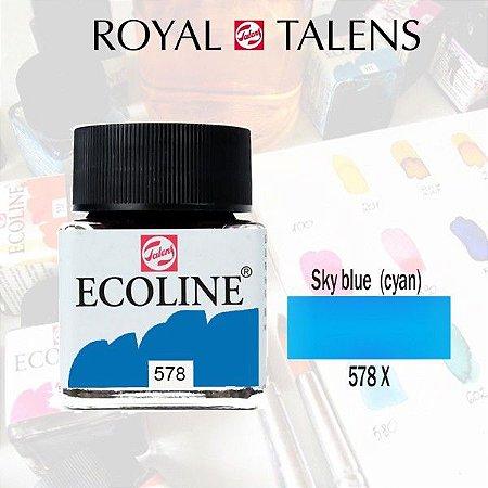 Aquarela Líquida Ecoline Azul Céu 578 - 30ml