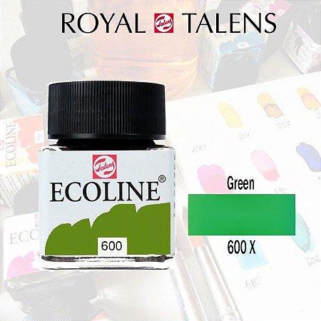Aquarela Líquida Ecoline Verde 600 - 30ml