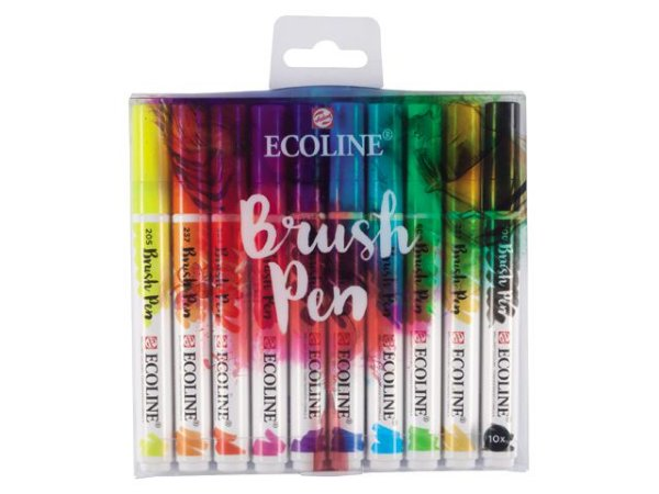 Conjunto Brush Pen Ecoline - 10 Cores