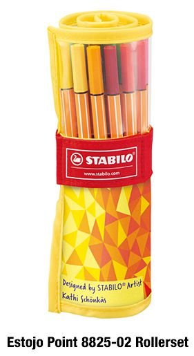Estojo Caneta Stabilo Point 88 Com 25 Cores