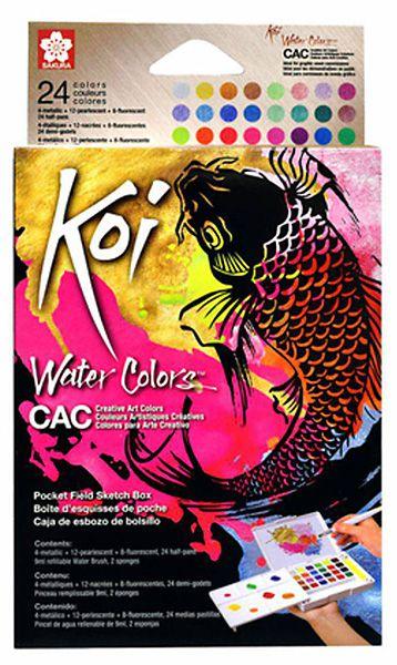 Aquarela Koi Water Colors Sakura - 24 Cores Metálicas
