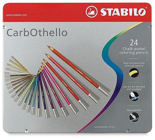 Lápis De Cor Stabilo Carbothello 24 Cores