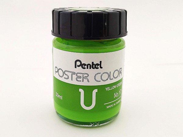 Tinta Guache Para Caligrafia e Desenho Pentel Poster Color Verde Citrico 17 - 30ml