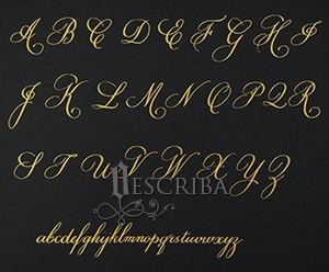 Manuscrito - Alfabeto Copperplate - A07