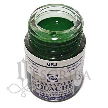 Tinta Guache Para Caligrafia - Talens Verde Pinho 654 - 16ml