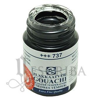 Tinta Guache Para Caligrafia - Talens Preta 737 - 16ml
