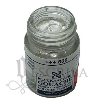 Tinta Guache Para Caligrafia - Talens Prata 800 - 16ml