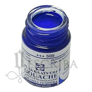 Tinta Guache Para Caligrafia - Talens Azul Ultramarino Claro 505 - 16ml