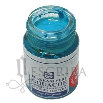Tinta Guache Para Caligrafia - Talens Azul Turquesa 522 - 16ml