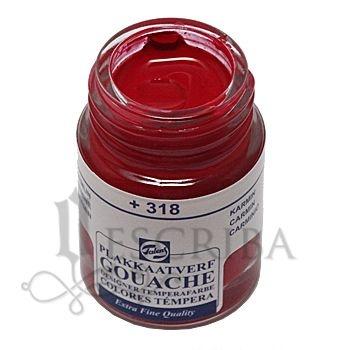 Tinta Guache Para Caligrafia - Talens Carmim 318 - 16ml