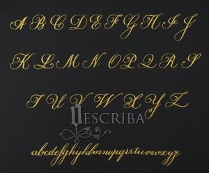Manuscrito - Alfabeto Copperplate - A04