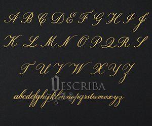 Manuscrito - Alfabeto Copperplate - A06