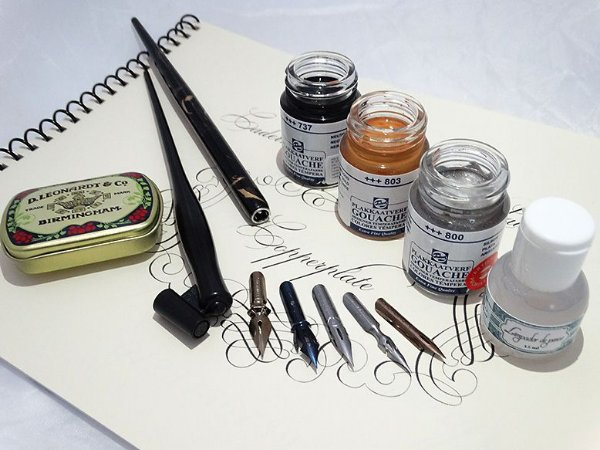Kit Para Caligrafia Copperplate/Cursiva Inglesa - Avançado