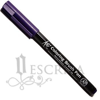 Caneta Pincel Koi Coloring Brush Pen Sakura - Roxo XBR#24