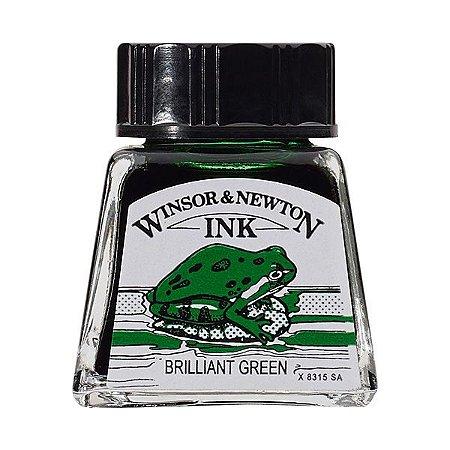 Tinta Para Desenho Winsor & Newton 14ml Brilliant Green