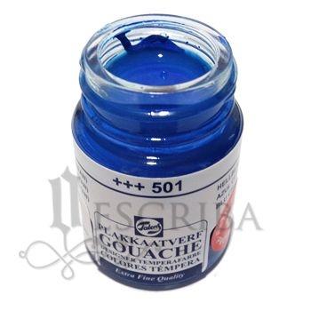 Tinta Guache Para Caligrafia - Talens Azul Claro (Ciano) 501 - 16ml