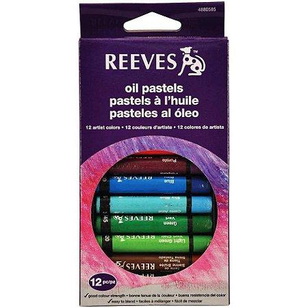 Giz Pastel Oleoso Reeves 12 Cores