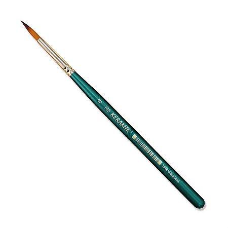 Pincel Redondo Para Aquarela Keramik 705 Num 6 Linha Premium