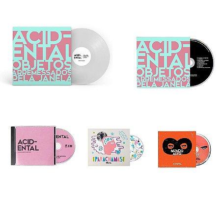 KIT VINIL + 4 CDs (3x Acidental, 1x Mundo Alto, 1x Parachamas)