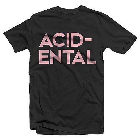 "Acidental ""Logo"" Camiseta Preta"