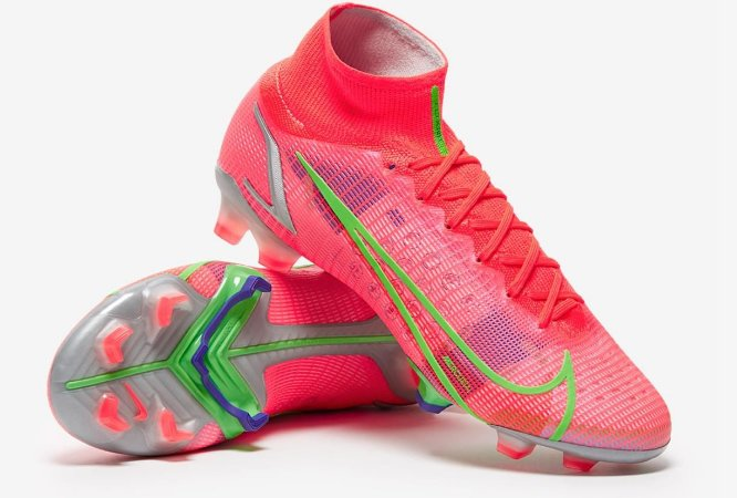 Nike Mercurial Superfly VIII Elite FG - Bright Crimson/Metallic Silver