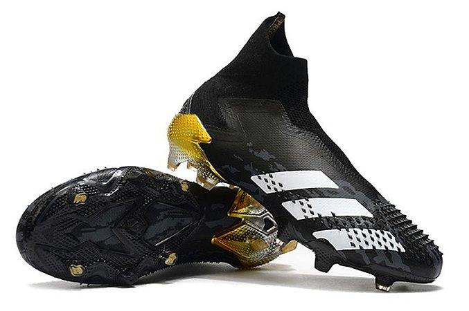 Chuteira Campo Adidas Predator Mutator 20.1 - Preto + Dourado