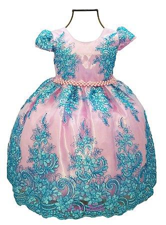 Vestido Luxo Festa Infantil Princesa Realeza