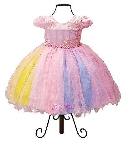 Vestido Circo Rosa Festa Infantil Menina Luxo Frete Grátis