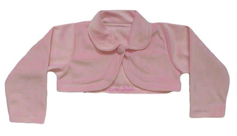 Bolero Infantil Rosa Plush