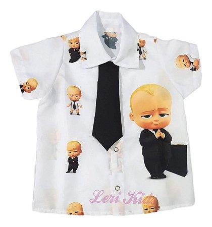 Camisa Infantil Temática O Poderoso Chefinho Festa Desenho