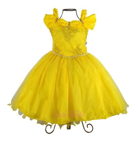 Vestido Luxo Infantil Tema A Bela E A Fera