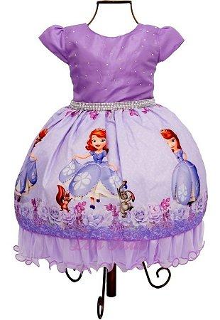 Vestido Luxo Festa Infantil Princesa Sofia