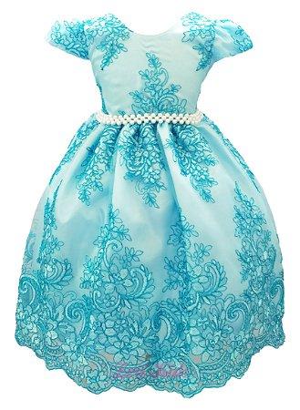 Vestido Cinderela Infantil Princesa Realeza  Luxo