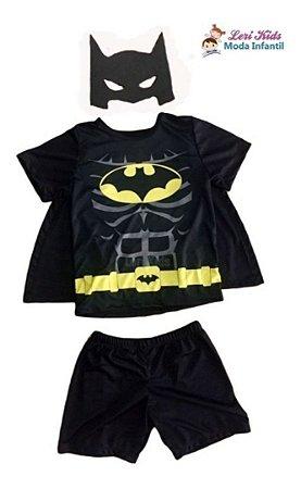 Fantasia Infantil Menino Morcego Com Capa +  Máscara