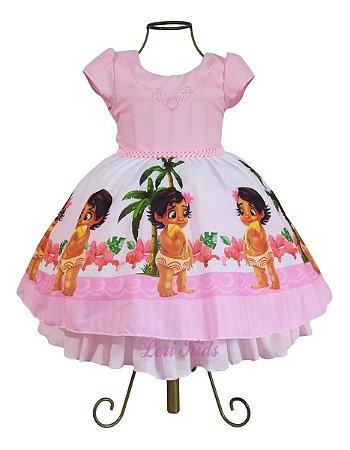 Vestido Infantil Aniversário Moana Baby